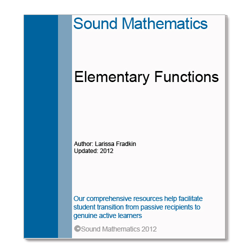 Elementary Functions for STEm student teaching